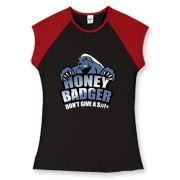 Honey Badger Don't Give A S#!+ tee shirts! This is an awesome shirt design tribute to the hilarious Honey Badger video so popular on YouTube. The Honey Badger video has been viewed more than 12 million times and is growing even more popular every day.