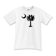 The Jolly Roger Pirate Palmetto features the Jolly Roger pirate symbol. The palmetto is a symbol of South Carolina Pride. Buy the Jolly Roger Pirate palmetto moon printed on a t-shirt, sweatshirt, or other apparel or gift item.