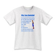 Why I Love Basketball Kids T-Shirt