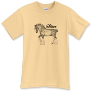 Awesome custom line drawing of a dapple grey shire stallion. All original artwork