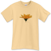 The side view of the gazania makes a distinctive flower shape on this tee. Simplicity is beautiful.