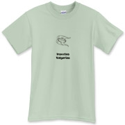 This creepy biology t-shirt uses pseudo-Latin Insectus Vulgarius to label the image of a disgusting cockroach. Biology may be an interesting science, but some insects are just creepy.