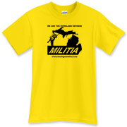 The Michigan Militia Minuteman T-Shirt in Daisy color.  Don't be fooled, this is the baddest color out there.