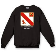 21st Field Artillery - Dark Color, Crewneck Sweatshirts. Front Insignia, Available in 7 Dark Colors.