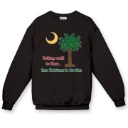 Buy a Nothing Finer than Christmas in Carolina Palmetto Moon Crewneck Sweatshirt. Nothing could be finer than Christmas in Carolina.