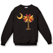 Buy a Thanksgiving Turkey Palmetto Moon Crewneck Sweatshirt and celebrate Turkey Day South Carolina style.