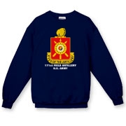 171st Field Artillery - Dark Color, Crewneck Sweatshirts. Front Insignia, Available in 7 Dark Colors.