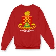 158th Artillery, MLRS - Dark Color Crewneck Sweatshirts: Front & Back Insignia, Available in 10 Dark Colors.