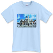 Beautiful souvenir of Rome Italy.  Our travel t-shirts are the best available.  View all our destinations.