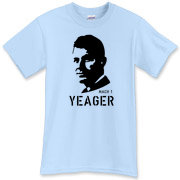 This Chuck Yeager t-shirt honors the ace combat pilot who broke the sound barrier.  Without a doubt Chuck Yeager had The Right Stuff.  Murchada Outfitters hopes this Yeager tee shirt has 1 thousandth as much of the right stuff.