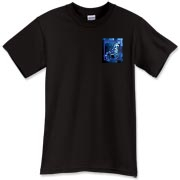 A mosaic-style Waverider logo on the pocket allows these shirts to be turned easily into robes by cutting them down the front. The Trefoil Academy emblem is on the back. Order larger sizes to allow it to fit robe-like over other clothing.