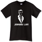 JEOPARDY4LIFE design in white on dark apparel