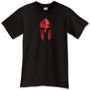 This Spartan t-shirt features a detailed red helm, as it would have been fresh from battle.  Well, a helmet from Sparta probably wasn't red, but this tee should give you the idea.  Be dressed to kill (not really) in a Murchada Outfitters shirt!