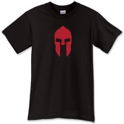 A bold red Spartan helmet t-shirt that does Leonidas proud.  If you want this tee, come and take it.  There is nothing Spartan about Murchada Outfitters quality.