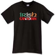 An Irish Canadian t-shirt for all those lucky enough to have the luck of the Irish! The Ireland flag and Canadian flag shine boldly on this great tee shirt! Murchada Outfitters salutes Canada and Ireland!