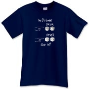 This funny Linux nerd dark shirt design shows two pair of dice. The Linux pair will always roll 7,  and the Other pair will always roll snake eyes. It suggests that Linux is a sure bet.
