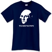 George Washington t-shirt showing the great American President and warrior in classic portrait.  You don't get your face on the $1 (or this shirt)  for being anything less than an ass-kicking hero.  Murchada Outfitters says 'Know thy history'.