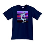 Kokopelli dancing with his flute is called the bringer of dreams. Original Kokopelli designs on hip shirts from T-Shirt Heaven!