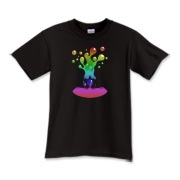 Lava Lamp Rainbow Kids T-Shirt