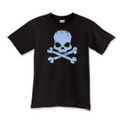 Blue Skull Kids T-Shirt