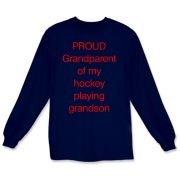 Proud of hockey grandson Long Sleeve T-Shirt