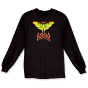 Celtic Lunar Moth Long Sleeve T-Shirt