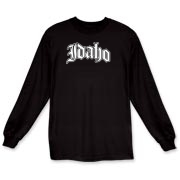Represent Idaho with this Olde English style design. Available in several colors - click an item to select your color! Exclusive to WhereTees.com.