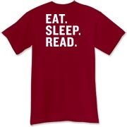 White Logo/Eat Sleep Read T-Shirt