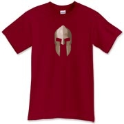 This Spartan t-shirt features a detailed golden helm, as it would have been fresh from battle. Well, a helmet from Sparta probably wasn't red, but this tee should give you the idea. Be dressed to kill (not really) in a Murchada Outfitters shirt!
