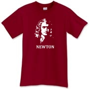 A shirt featuring Isaac Newton, the grand master of physics!  Newton never looked as good as he does in this custom graphic tee.  What goes up must come down, except for the Murchada Outfitters t-shirt collection!