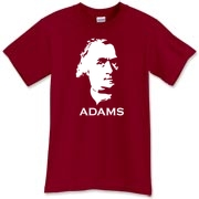This Sam Adams t-shirt pays tribute to the man, not the beer.  All of the Founding Fathers of the USA had brass balls and are more than deserving of their own tees.  Murchada Outfitters doesn't mind Samuel Adams beer either.