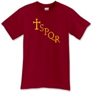This SPQR t-shirt has the cross in the style of ancient Rome!  It's a Roman shirt to be sure, so if you're a fan of the Roman Empire, pick one up!  Murchada Outfitters is turning into an empire (which hopefully won't fall)