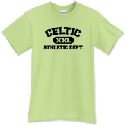 This Celtic Athletic Dept t shirt proudly states that a Celt is on the field!  This Celtic tee shirt will look great at your next hurling match!