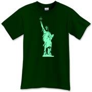 Simple silhouette of Statue of Liberty taken from an actual photograph of mine.  Simple NY Art Tee.