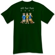 The official tee for All Fur Fun 2007 is here!  This one is available in black, and as available, a range of dark colours.