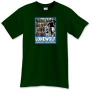 Who's that guy standing next to the speaker with a beer in his hand?  Why it's Lonewolf, the famous AudioCircle supermodel!  Now you too will be able to invoke the power of speaker posing with this fine shirt.  Join the Cult of Chris today!