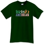 An Irish American t-shirt for all those lucky enough to have the luck of the Irish! The Ireland flag and American flag shine boldly on this great tee shirt! Murchada Outfitters salutes America and Ireland!