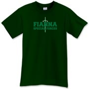 This Fianna Special Forces t-shirt was found in Finn McCool's tomb. It features an awesome claymore and this fine Celtic tee shirt is probably as tough as chainmail, though we haven't tested it yet.
