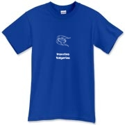 This funny biology t-shirt uses pseudo-Latin Insectus Vulgarius to label the image of a disgusting cockroach. Biology may be an interesting science, but some bugs are just creepy.