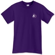 Namah Silhouette White on Purple