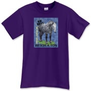 quality item with the real horses weigh a ton grey percheron on the front.
