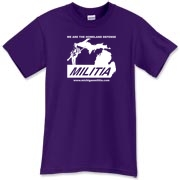 The Michigan Militia Minuteman T-Shirt, the Purple version.