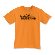 Classic Kids T-Shirt features our popular Prestige Mustang Fade Logo design on the front