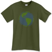 Peace sign t-shirts and sweatshirts feature globe made of peace signs.  Unique gift.  Many colors available for men, women and children.