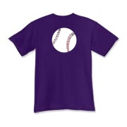 A baseball is featured in the center back of this Baseball Kids T-shirt.