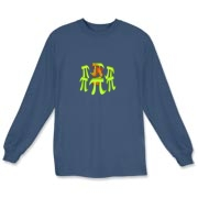 This colorful math long sleeve t-shirt shows six massive stone Pi symbols arranged Stonehenge style. Within the circle of Pi symbols burns a sacrificial fire. Perfect for Pi Day and Pi lovers everywhere.