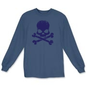 Navy Skull Long Sleeve T-Shirt