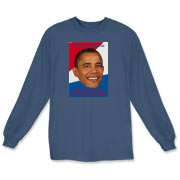 Be part of the 2009 presidential inauguration by owning a long sleeve t-shirt featuring Barack Obama and the date of the inauguration.