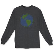 Peace sign t-shirts and sweatshirts feature globe made of peace signs.  Unique gift.