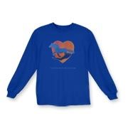 Water Heart - Kids Long Sleeve T-Shirt